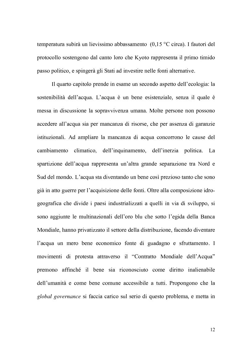 Anteprima della tesi: Globalizzazione e salvaguardia dell'ambiente, Pagina 7