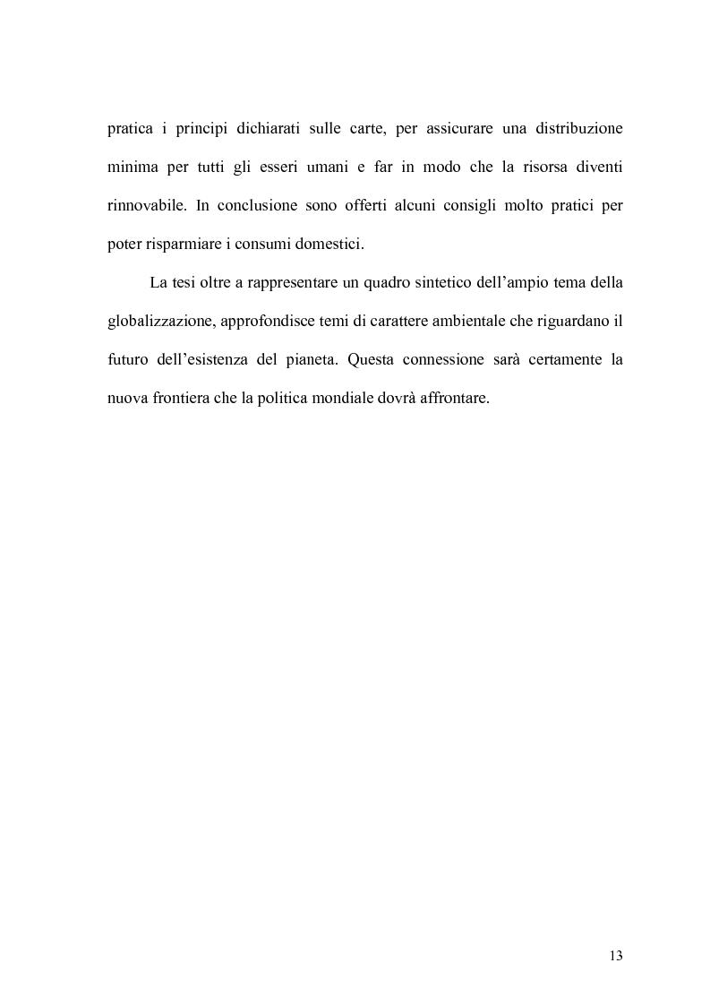 Anteprima della tesi: Globalizzazione e salvaguardia dell'ambiente, Pagina 8