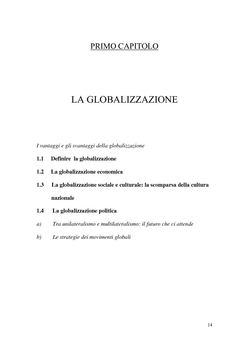 Anteprima della tesi: Globalizzazione e salvaguardia dell'ambiente, Pagina 9