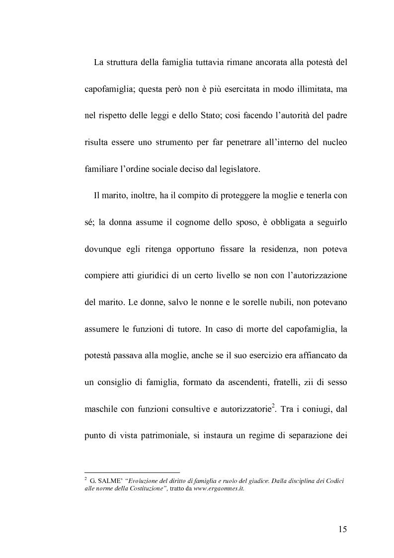Anteprima della tesi: La famiglia legittima e la famiglia di fatto tra paralisi statale e iperattivismo regionale, Pagina 11