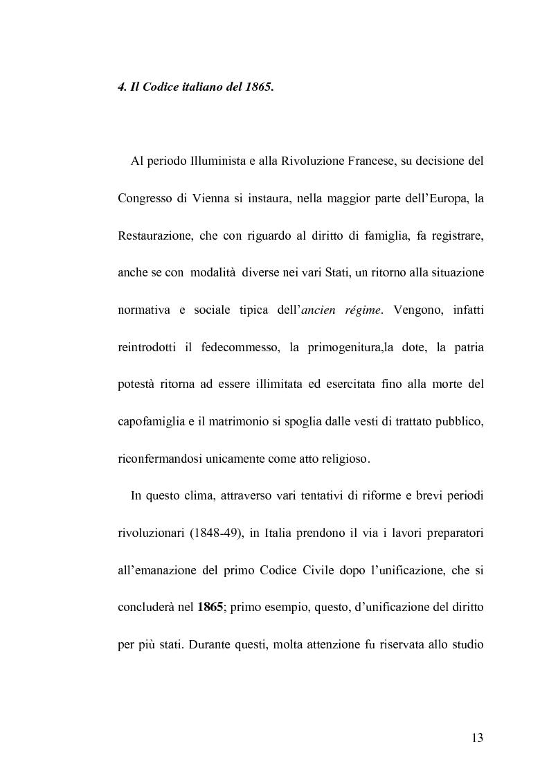 Anteprima della tesi: La famiglia legittima e la famiglia di fatto tra paralisi statale e iperattivismo regionale, Pagina 9