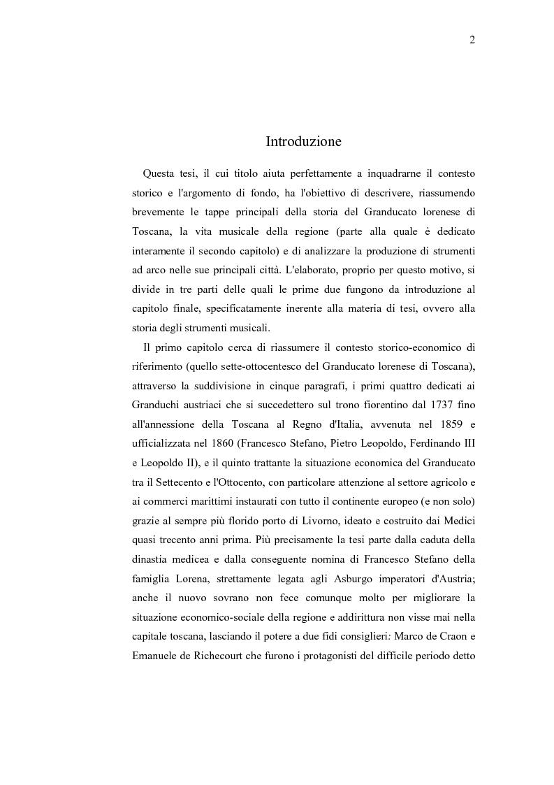Anteprima della tesi: Musica e liuteria nella Toscana dei Lorena, Pagina 1