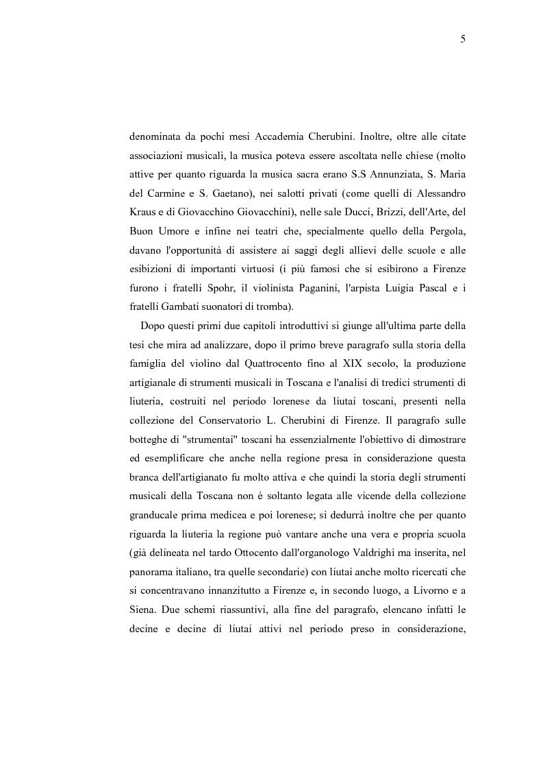 Anteprima della tesi: Musica e liuteria nella Toscana dei Lorena, Pagina 4