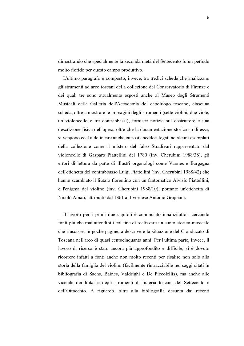 Anteprima della tesi: Musica e liuteria nella Toscana dei Lorena, Pagina 5