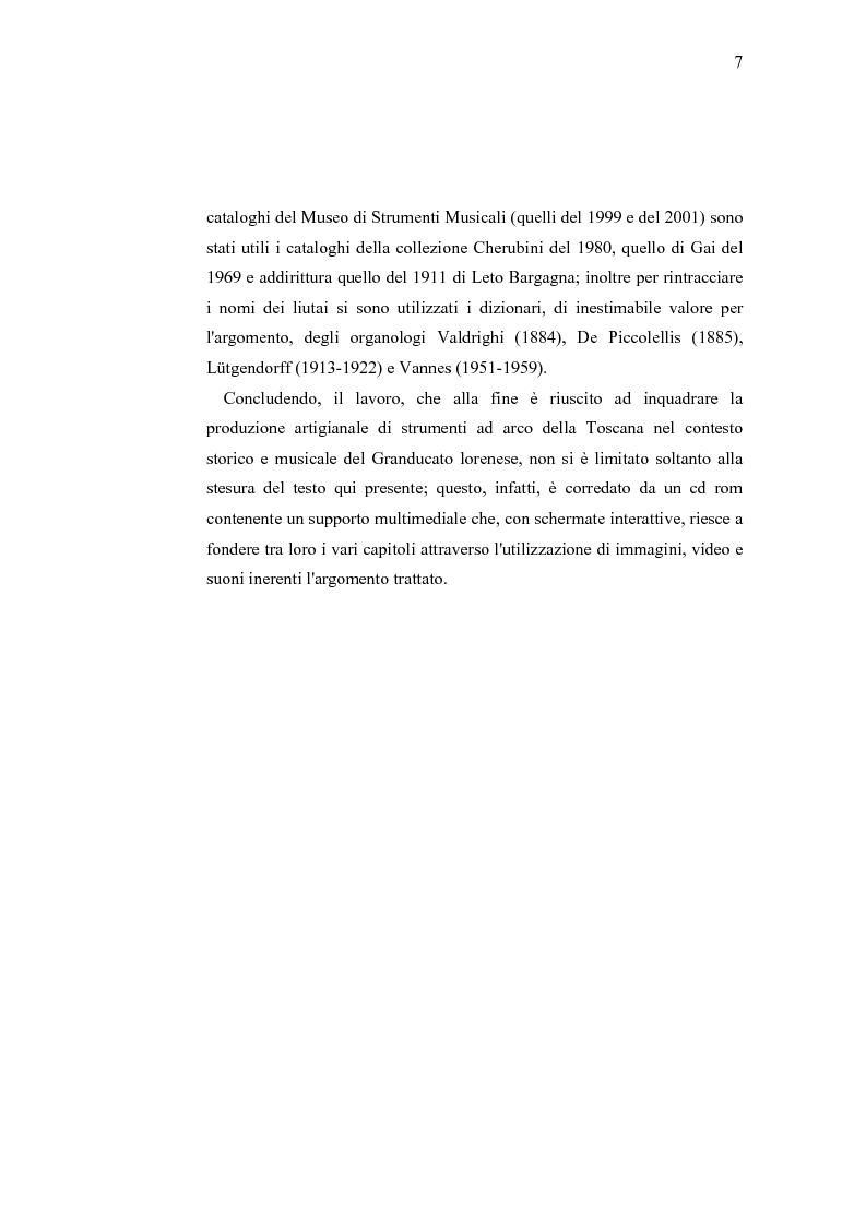 Anteprima della tesi: Musica e liuteria nella Toscana dei Lorena, Pagina 6