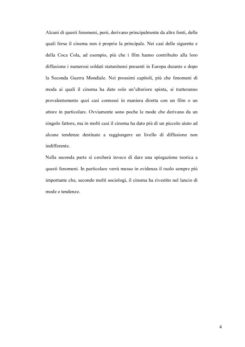 Anteprima della tesi: Cinema e Moda. I fenomeni di moda generati dai film, Pagina 2
