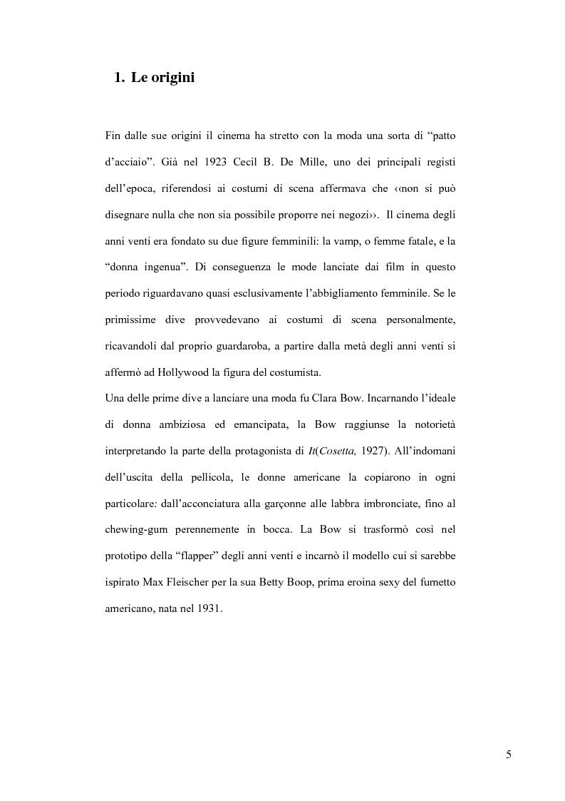 Anteprima della tesi: Cinema e Moda. I fenomeni di moda generati dai film, Pagina 3