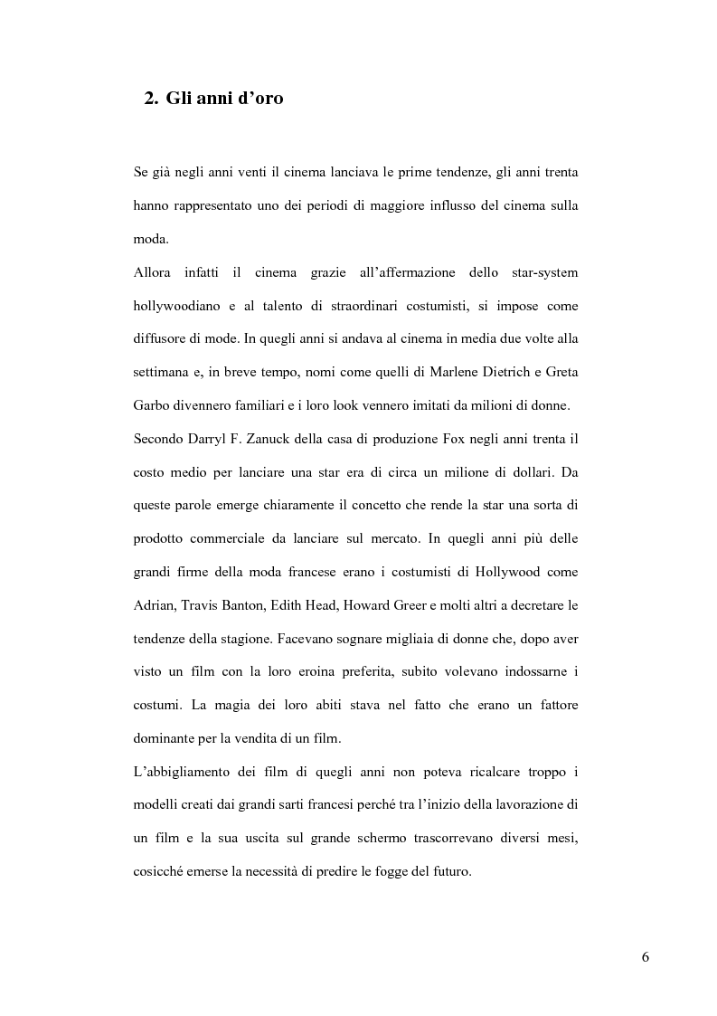 Anteprima della tesi: Cinema e Moda. I fenomeni di moda generati dai film, Pagina 4