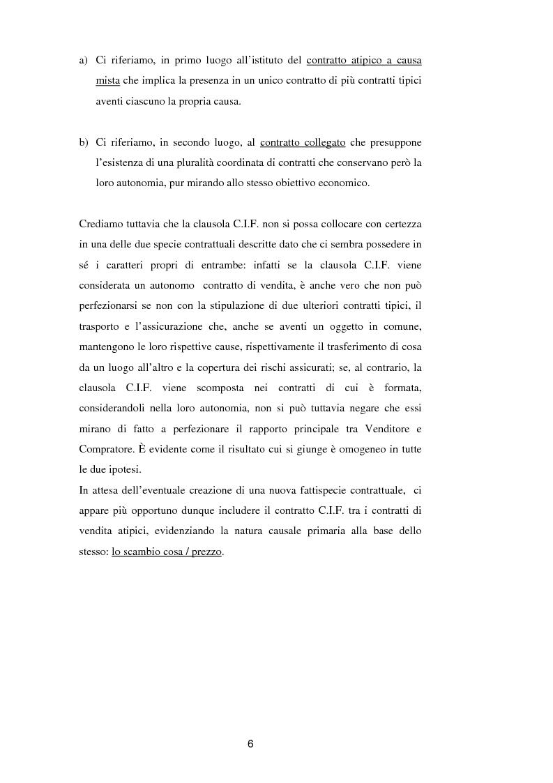 Anteprima della tesi: La vendita a condizione C.I.F. nella giurisprudenza di Common Law, Pagina 10