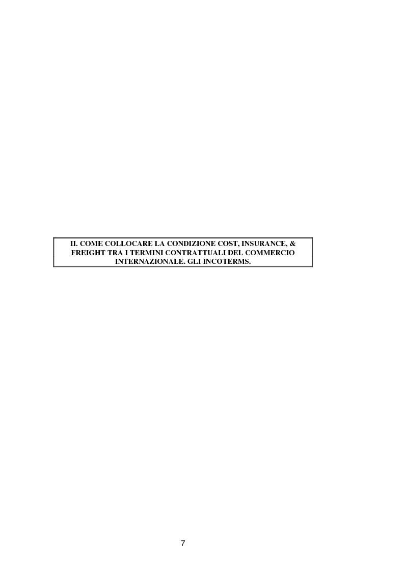 Anteprima della tesi: La vendita a condizione C.I.F. nella giurisprudenza di Common Law, Pagina 11