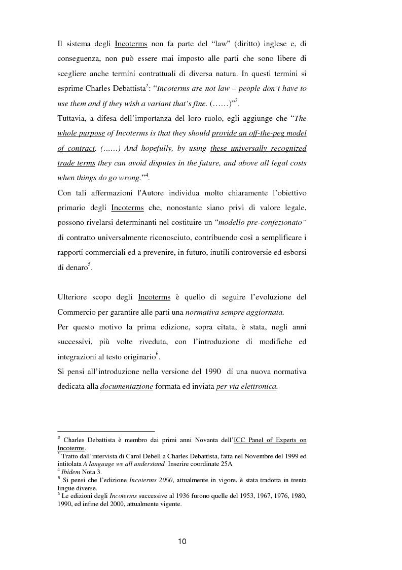 Anteprima della tesi: La vendita a condizione C.I.F. nella giurisprudenza di Common Law, Pagina 14