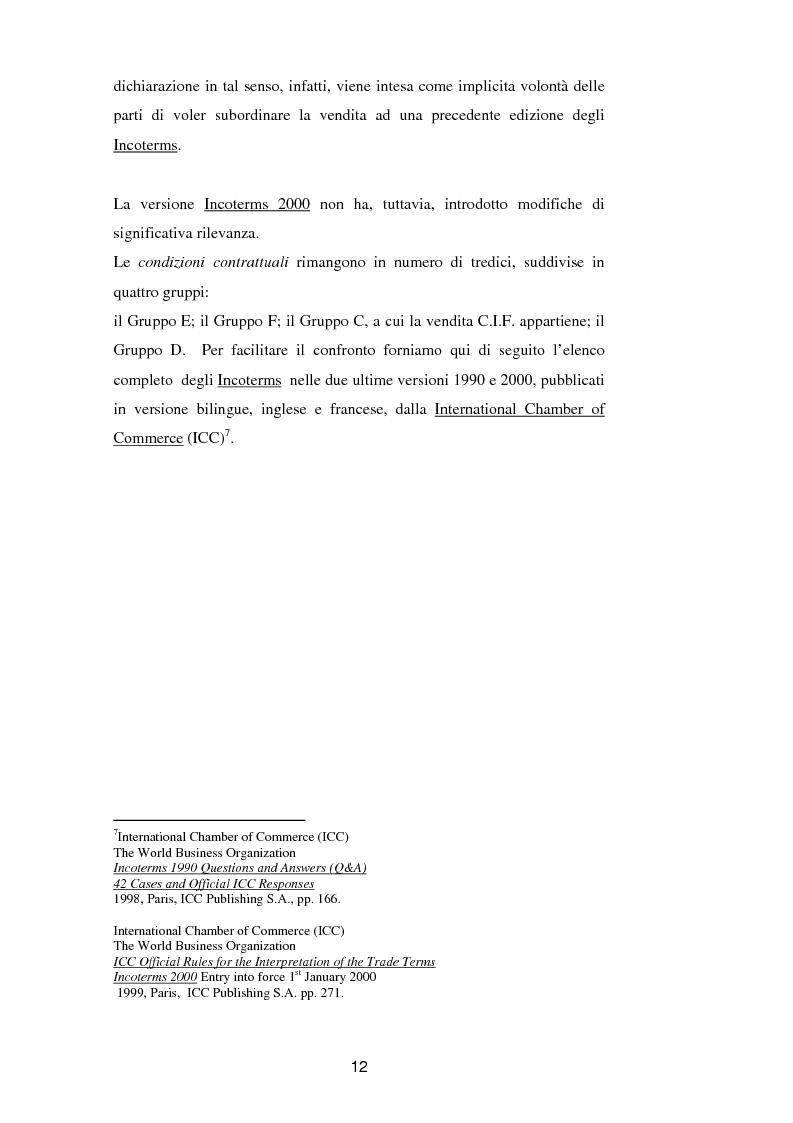 Anteprima della tesi: La vendita a condizione C.I.F. nella giurisprudenza di Common Law, Pagina 16