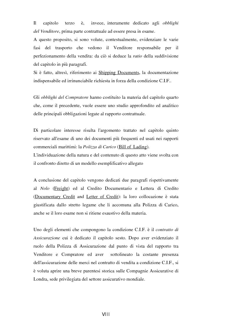 Anteprima della tesi: La vendita a condizione C.I.F. nella giurisprudenza di Common Law, Pagina 3