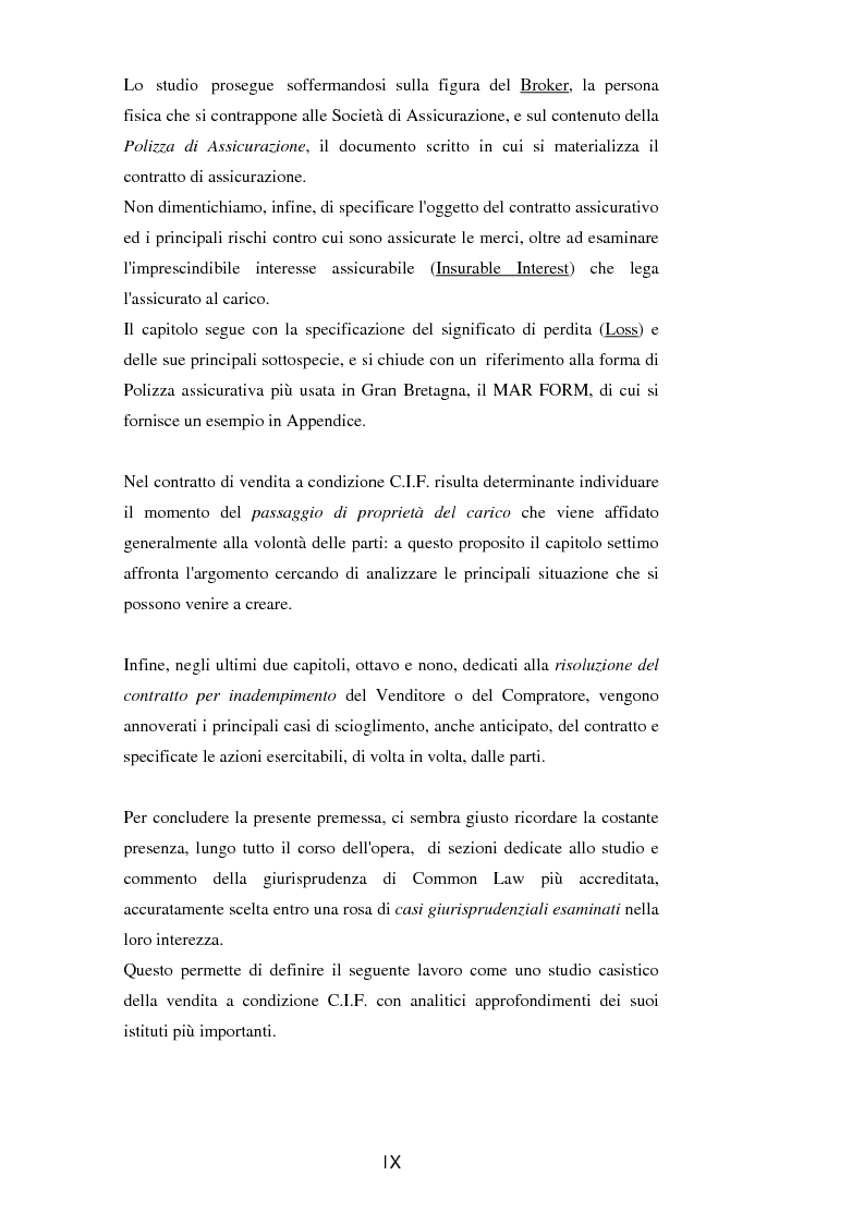 Anteprima della tesi: La vendita a condizione C.I.F. nella giurisprudenza di Common Law, Pagina 4
