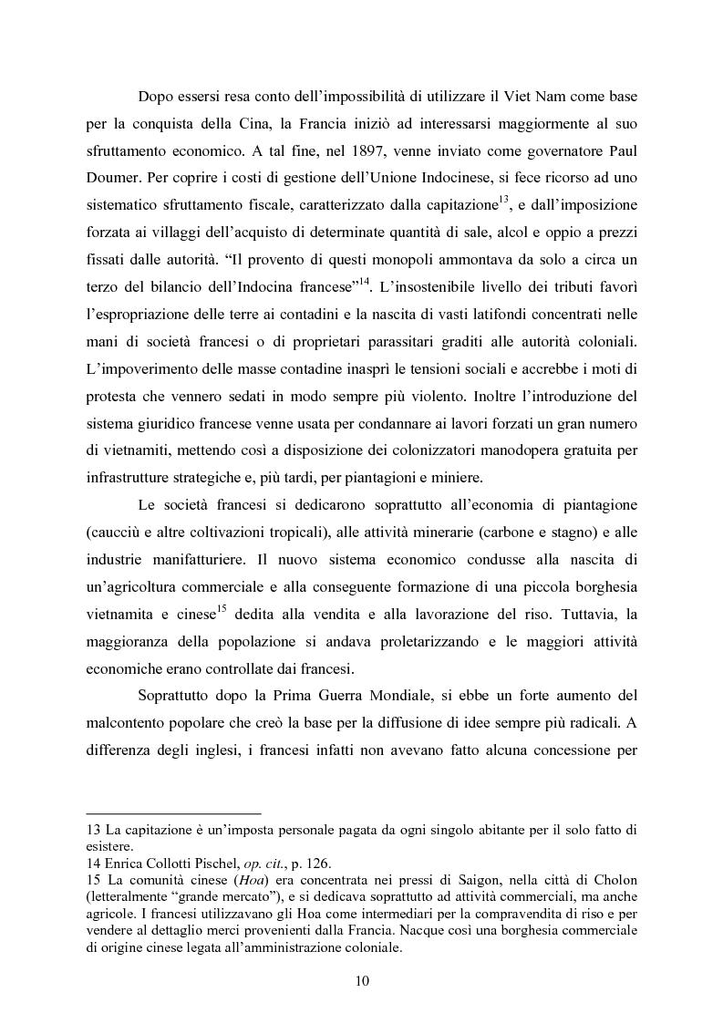 Anteprima della tesi: VIET NAM: Una pace difficile - Dalla ''vietnamizzazione'' del conflitto all'invasione della Cambogia, Pagina 10