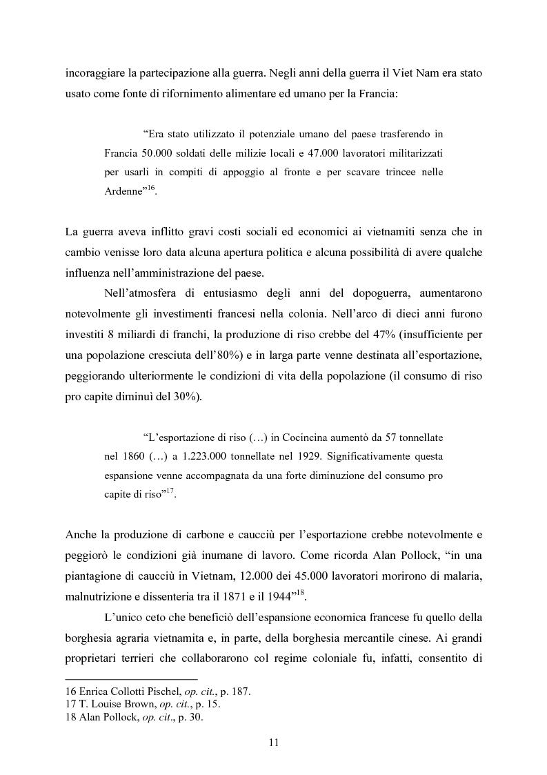 Anteprima della tesi: VIET NAM: Una pace difficile - Dalla ''vietnamizzazione'' del conflitto all'invasione della Cambogia, Pagina 11