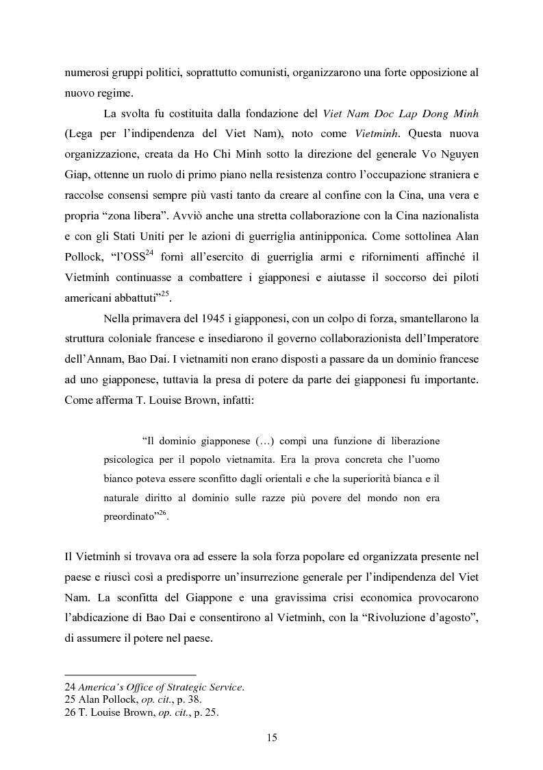 Anteprima della tesi: VIET NAM: Una pace difficile - Dalla ''vietnamizzazione'' del conflitto all'invasione della Cambogia, Pagina 15