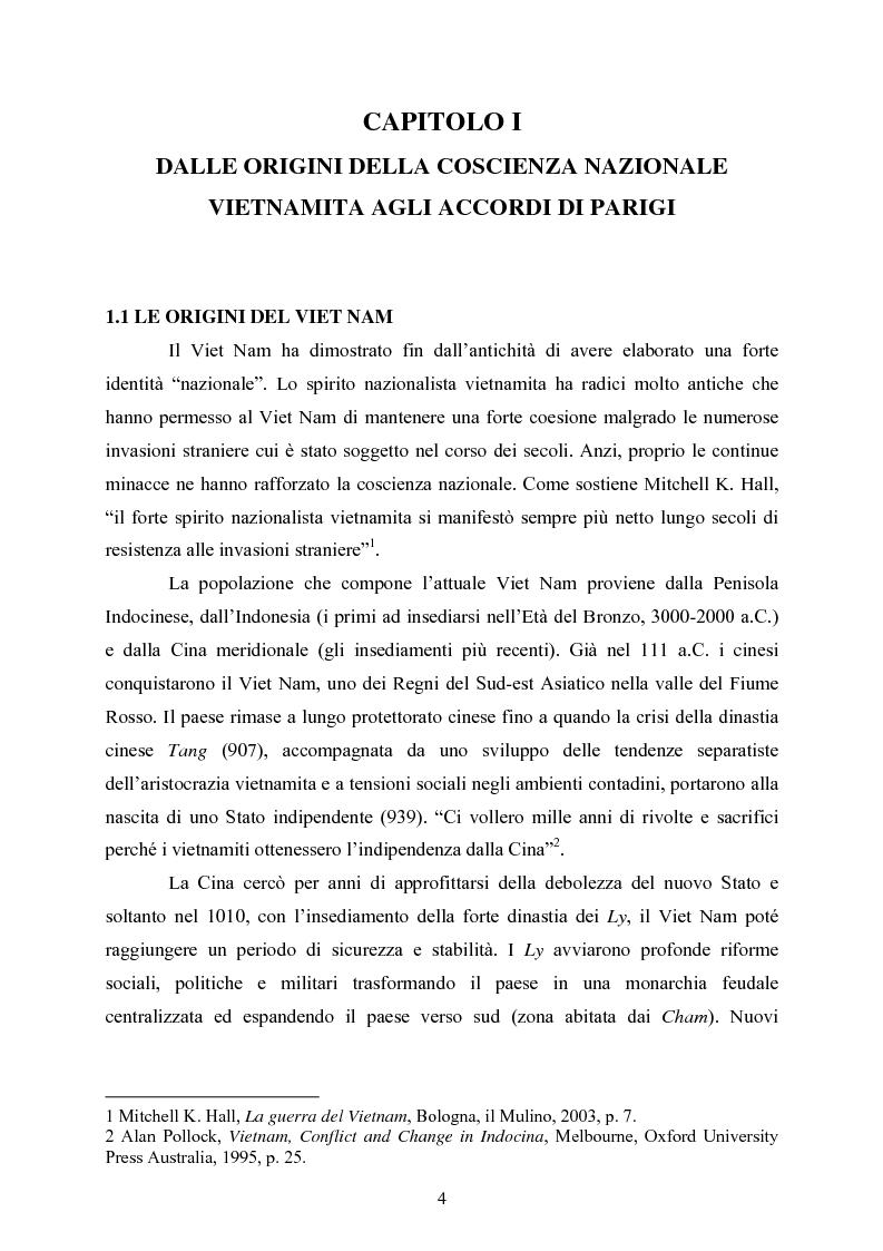 Anteprima della tesi: VIET NAM: Una pace difficile - Dalla ''vietnamizzazione'' del conflitto all'invasione della Cambogia, Pagina 4