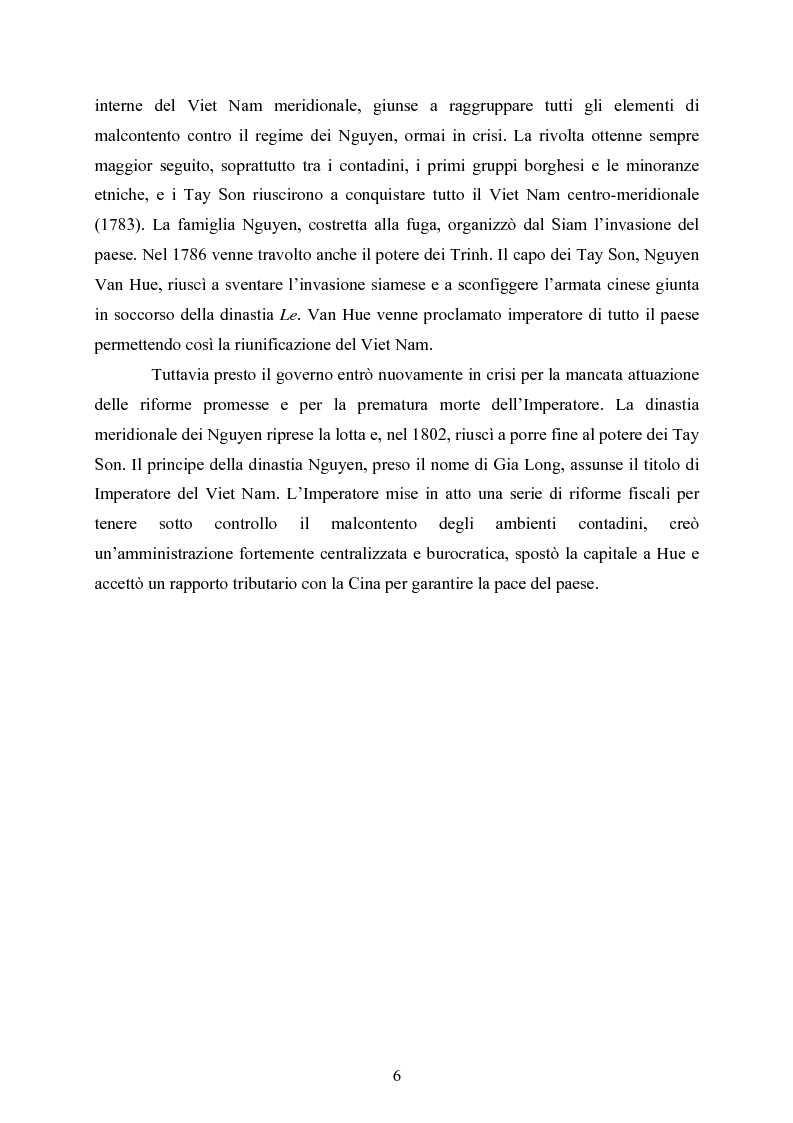 Anteprima della tesi: VIET NAM: Una pace difficile - Dalla ''vietnamizzazione'' del conflitto all'invasione della Cambogia, Pagina 6