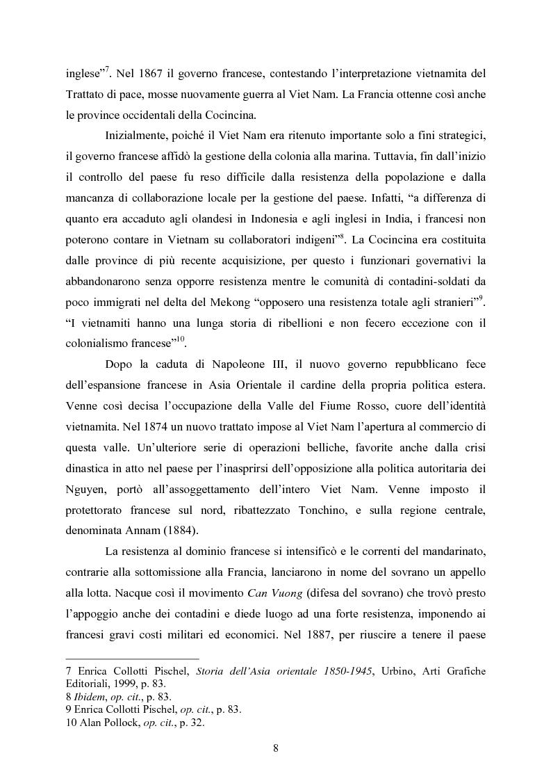 Anteprima della tesi: VIET NAM: Una pace difficile - Dalla ''vietnamizzazione'' del conflitto all'invasione della Cambogia, Pagina 8
