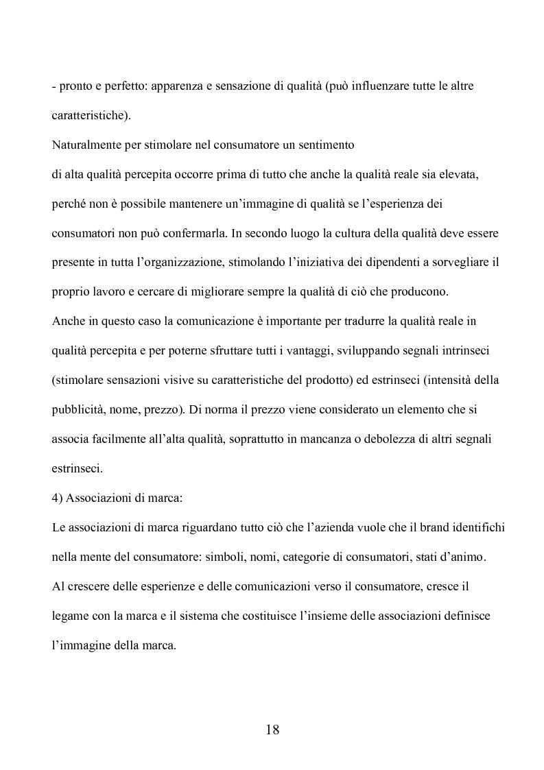 Anteprima della tesi: Marca e packaging per il successo aziendale: Il caso Aquolina, nuovi universi sensoriali per la cosmesi., Pagina 13