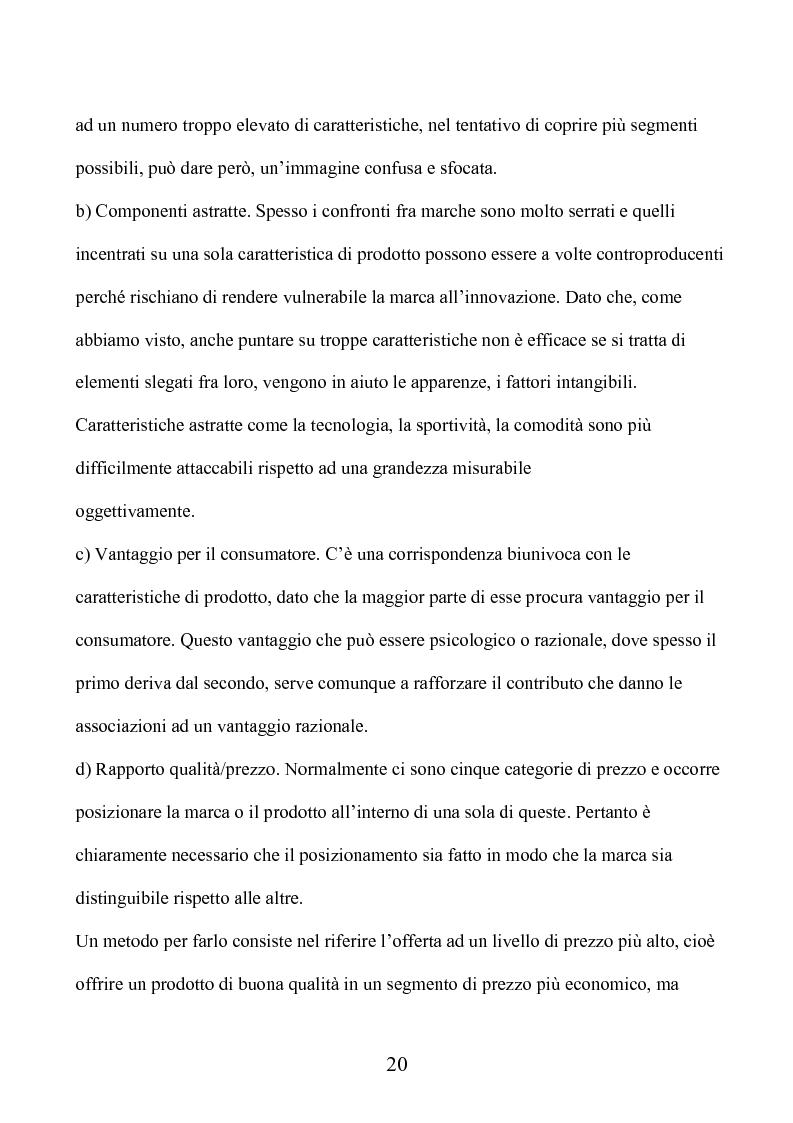 Anteprima della tesi: Marca e packaging per il successo aziendale: Il caso Aquolina, nuovi universi sensoriali per la cosmesi., Pagina 15