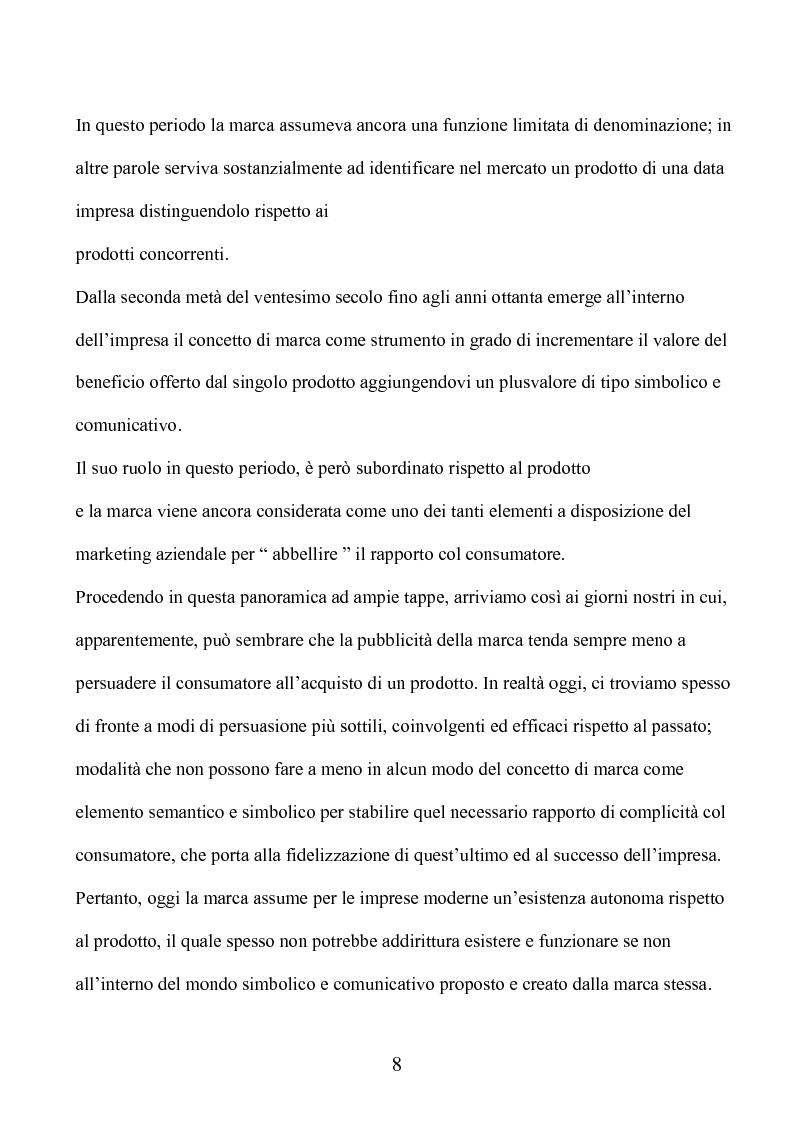 Anteprima della tesi: Marca e packaging per il successo aziendale: Il caso Aquolina, nuovi universi sensoriali per la cosmesi., Pagina 3