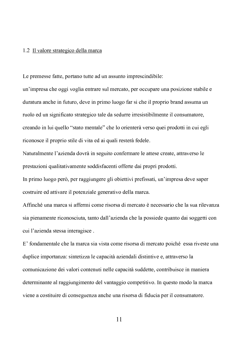 Anteprima della tesi: Marca e packaging per il successo aziendale: Il caso Aquolina, nuovi universi sensoriali per la cosmesi., Pagina 6