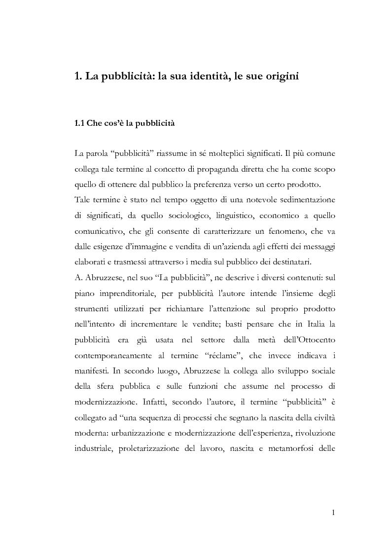 Anteprima della tesi: La pubblicità e le avanguardie, Pagina 1
