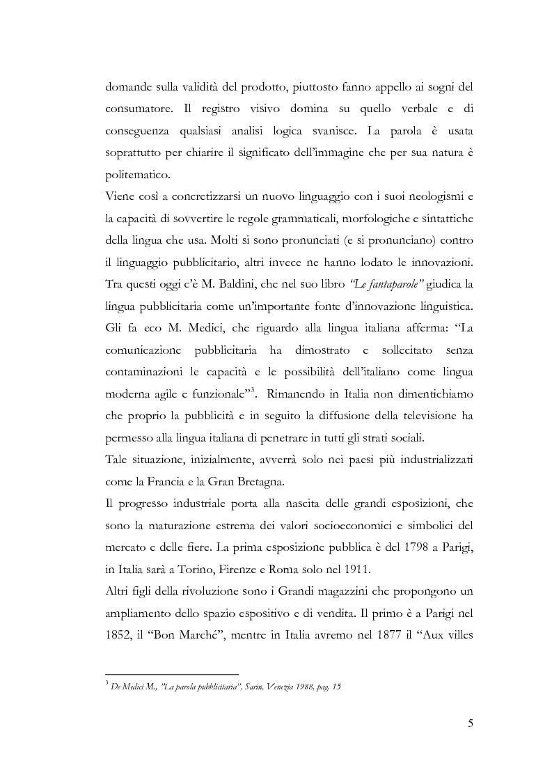 Anteprima della tesi: La pubblicità e le avanguardie, Pagina 5