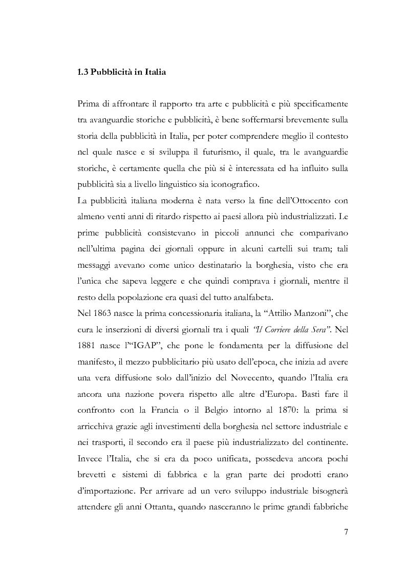 Anteprima della tesi: La pubblicità e le avanguardie, Pagina 7