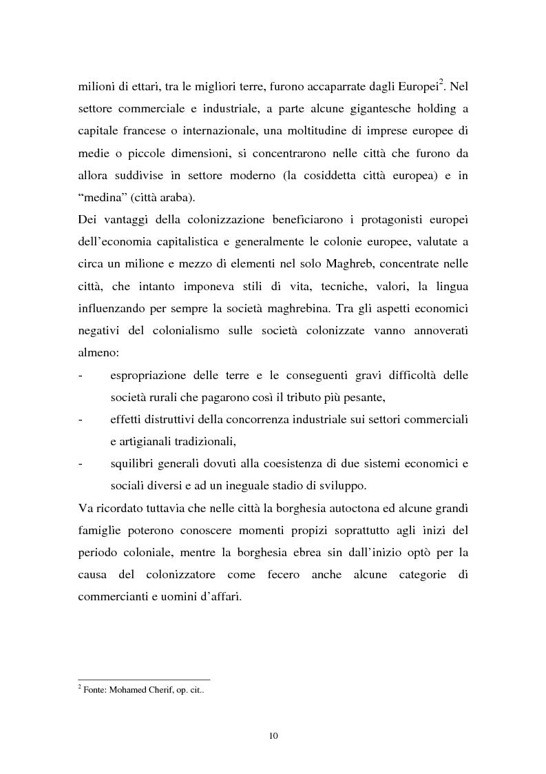 Anteprima della tesi: Gli investimenti stranieri nel Nord Africa in orospettiva storica: il caso della Tunisia, Pagina 10
