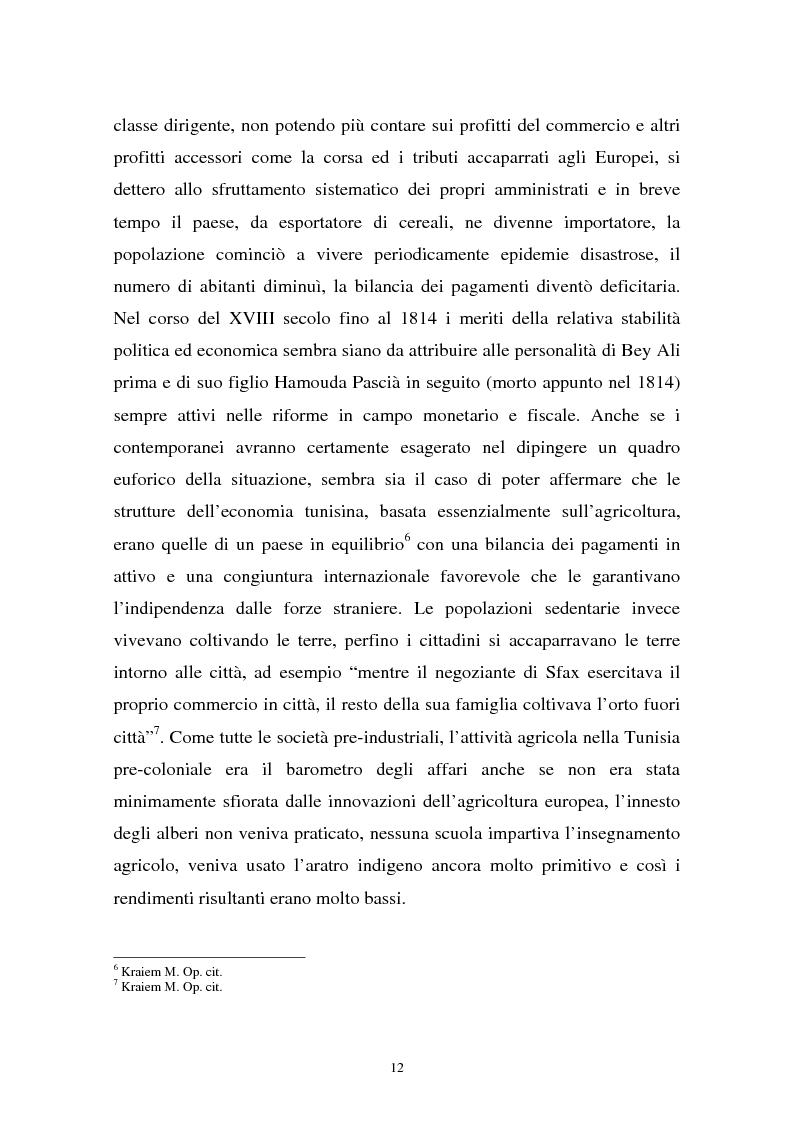 Anteprima della tesi: Gli investimenti stranieri nel Nord Africa in orospettiva storica: il caso della Tunisia, Pagina 12