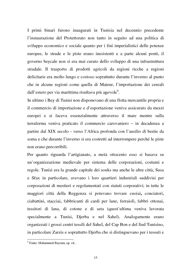 Anteprima della tesi: Gli investimenti stranieri nel Nord Africa in orospettiva storica: il caso della Tunisia, Pagina 15
