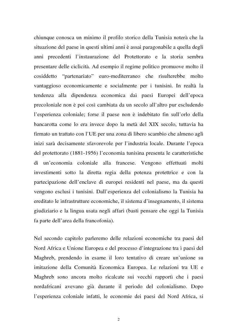 Anteprima della tesi: Gli investimenti stranieri nel Nord Africa in orospettiva storica: il caso della Tunisia, Pagina 2