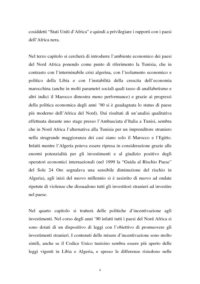 Anteprima della tesi: Gli investimenti stranieri nel Nord Africa in orospettiva storica: il caso della Tunisia, Pagina 4