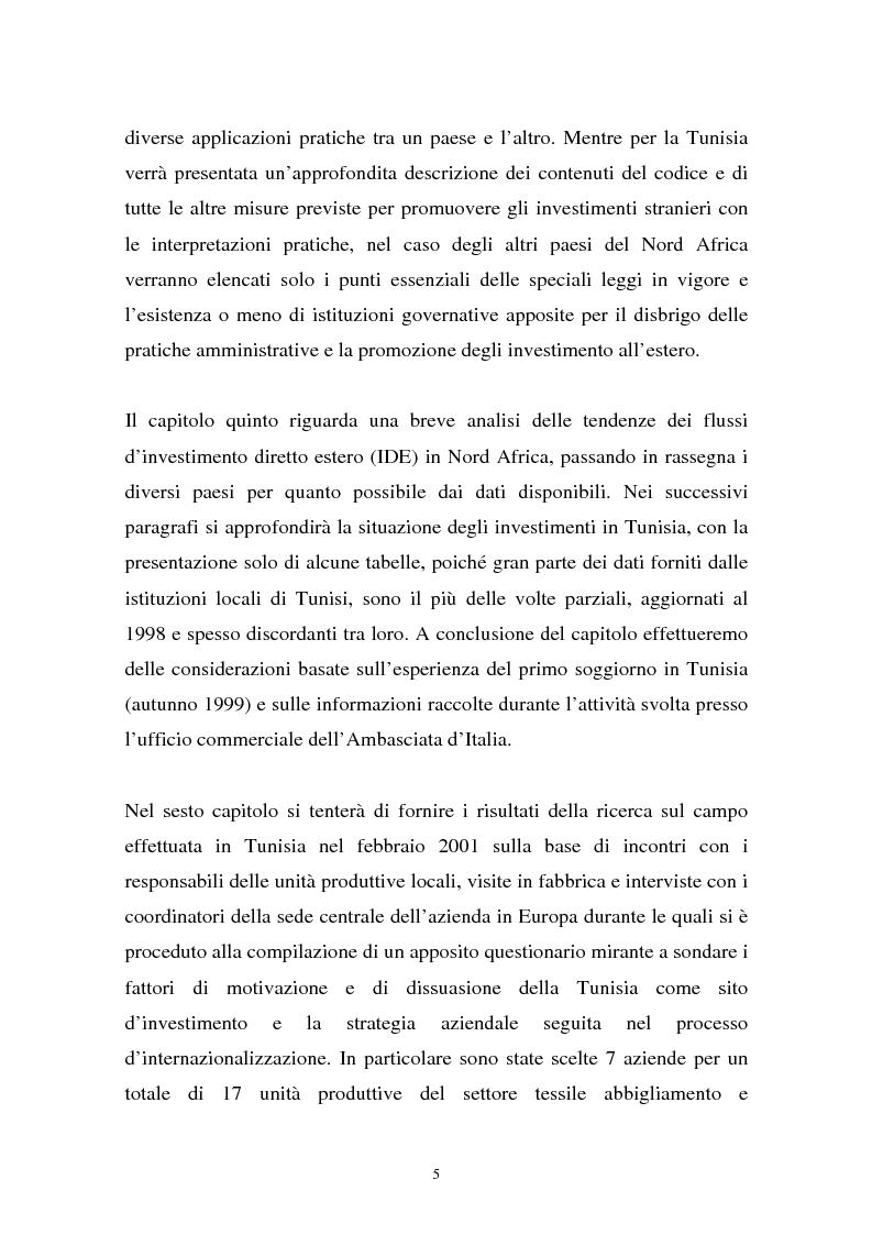 Anteprima della tesi: Gli investimenti stranieri nel Nord Africa in orospettiva storica: il caso della Tunisia, Pagina 5