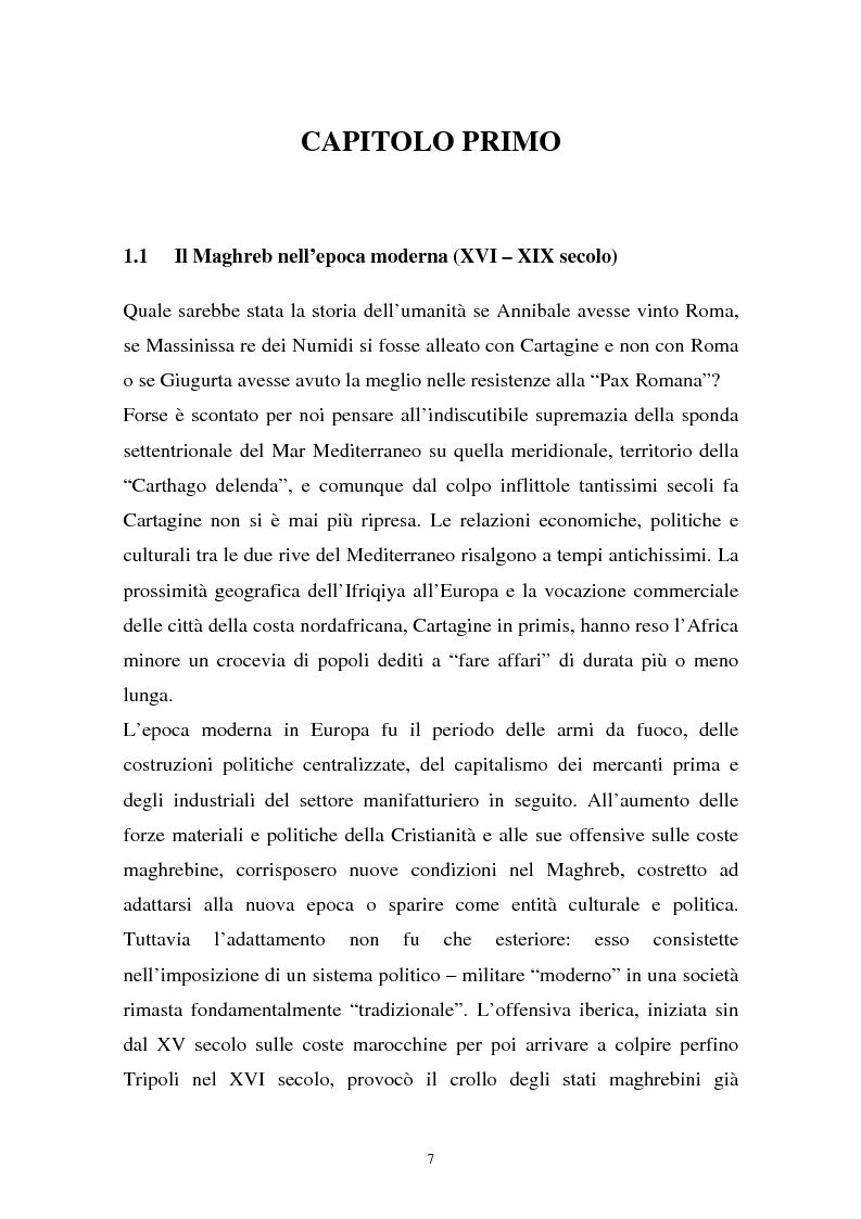 Anteprima della tesi: Gli investimenti stranieri nel Nord Africa in orospettiva storica: il caso della Tunisia, Pagina 7