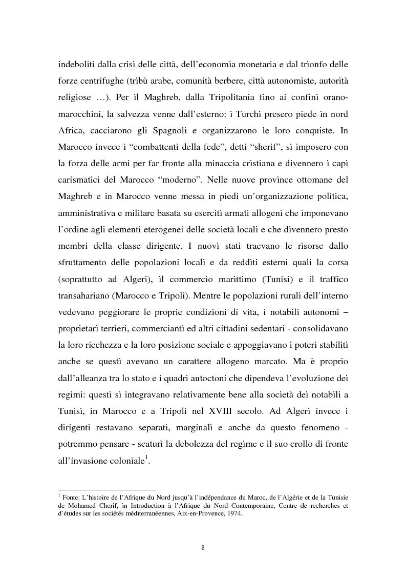 Anteprima della tesi: Gli investimenti stranieri nel Nord Africa in orospettiva storica: il caso della Tunisia, Pagina 8