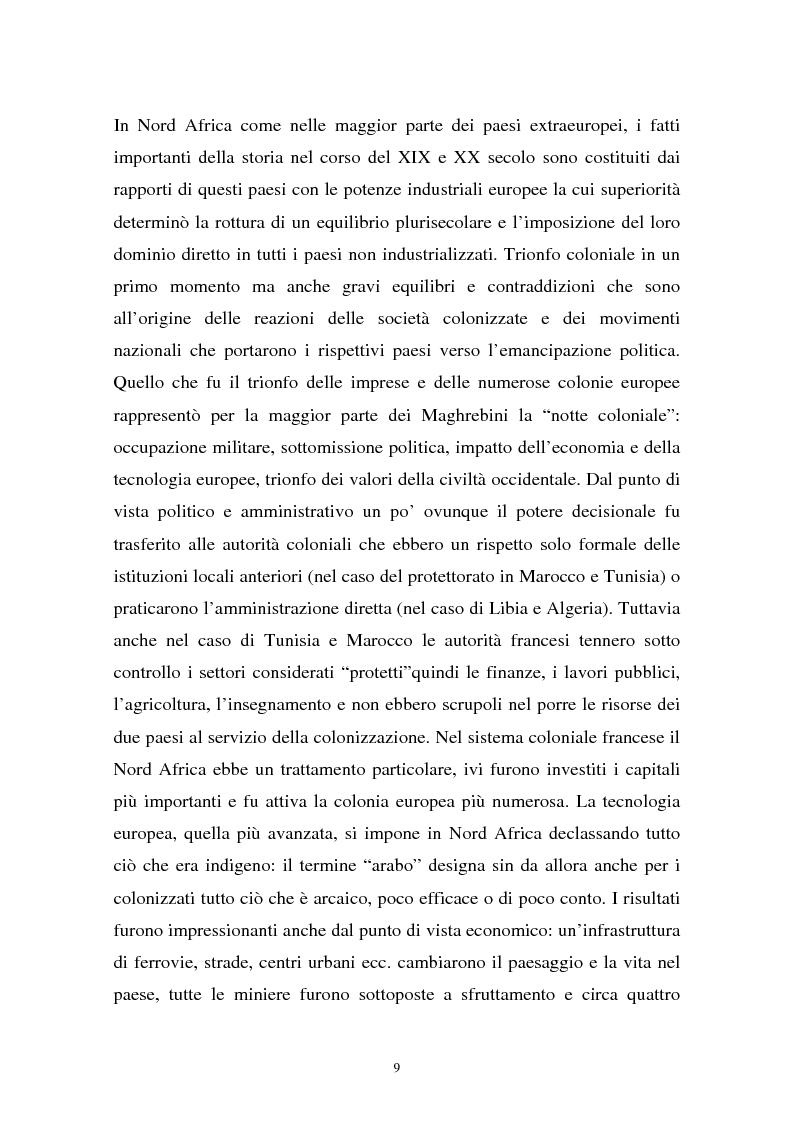 Anteprima della tesi: Gli investimenti stranieri nel Nord Africa in orospettiva storica: il caso della Tunisia, Pagina 9