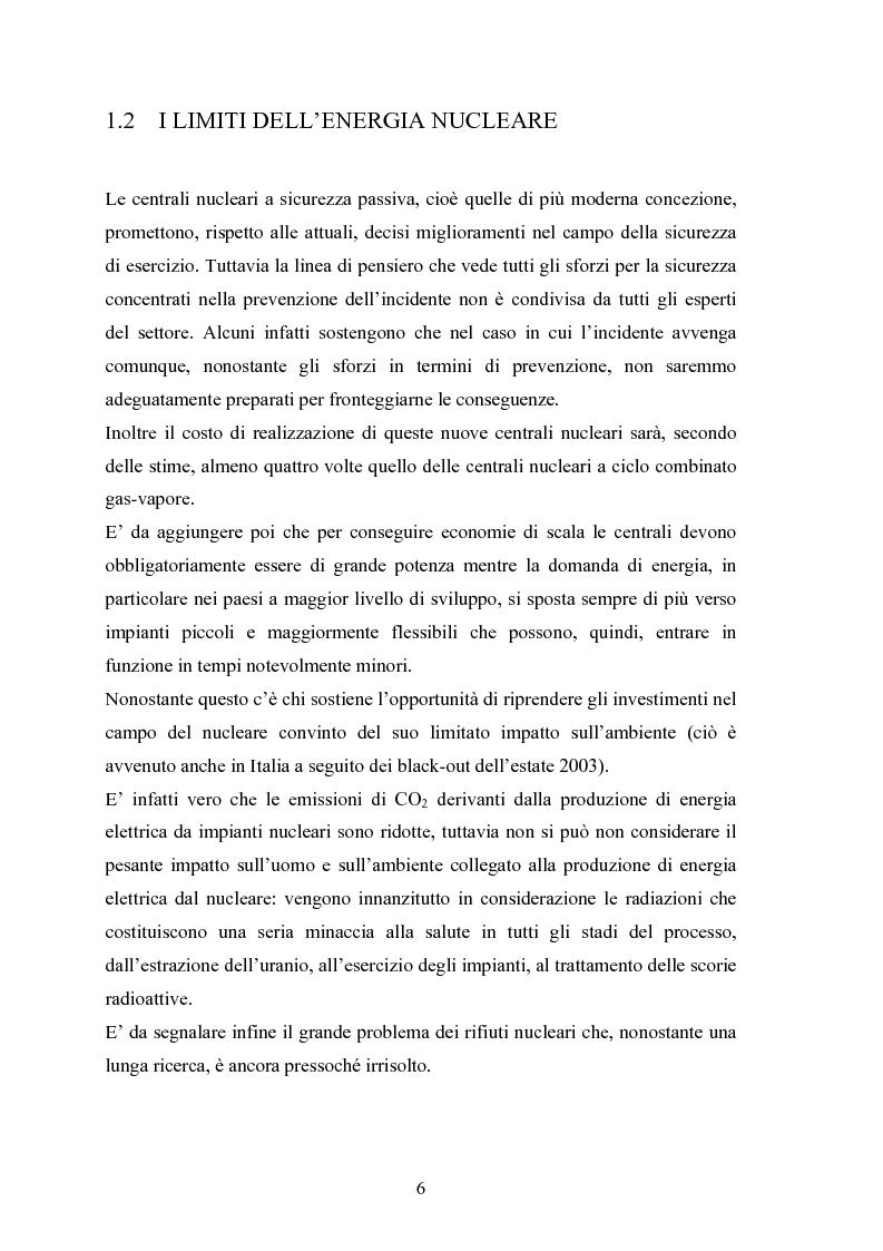 Anteprima della tesi: Le fonti energetiche rinnovabili. Valutazioni economiche, politiche ed ambientali., Pagina 11