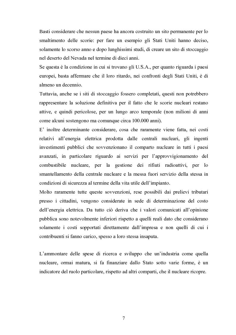 Anteprima della tesi: Le fonti energetiche rinnovabili. Valutazioni economiche, politiche ed ambientali., Pagina 12