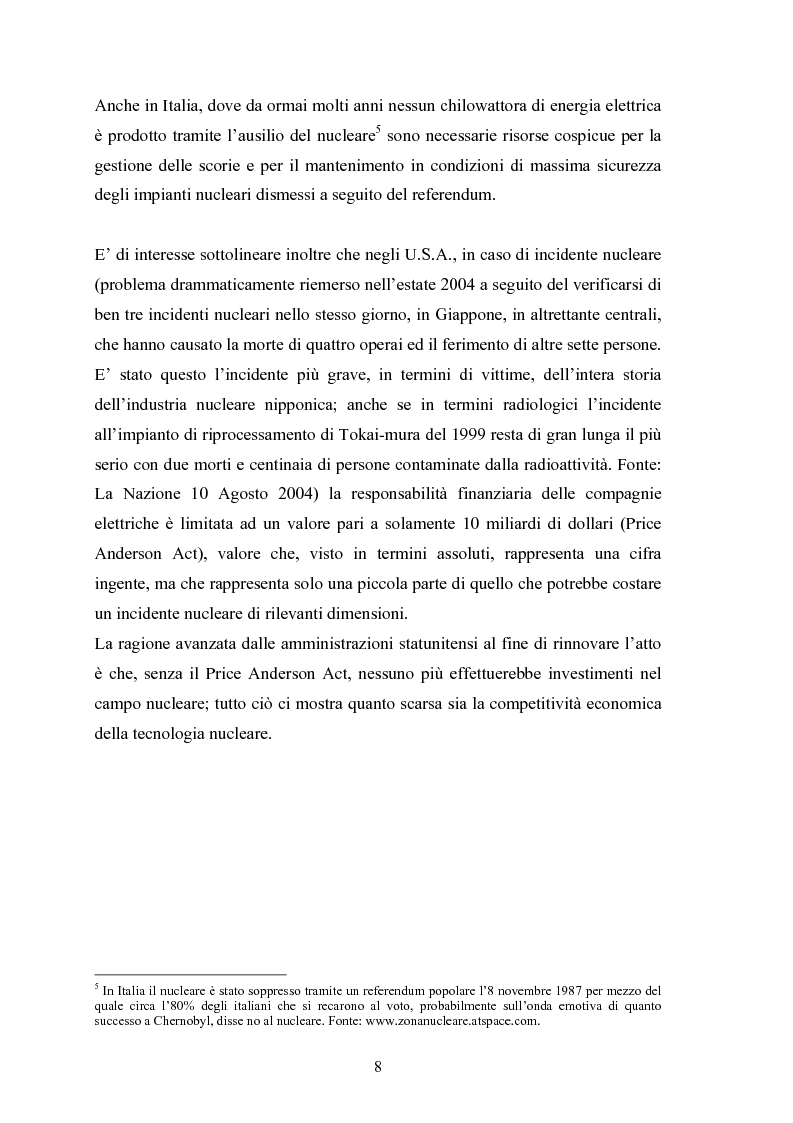 Anteprima della tesi: Le fonti energetiche rinnovabili. Valutazioni economiche, politiche ed ambientali., Pagina 13