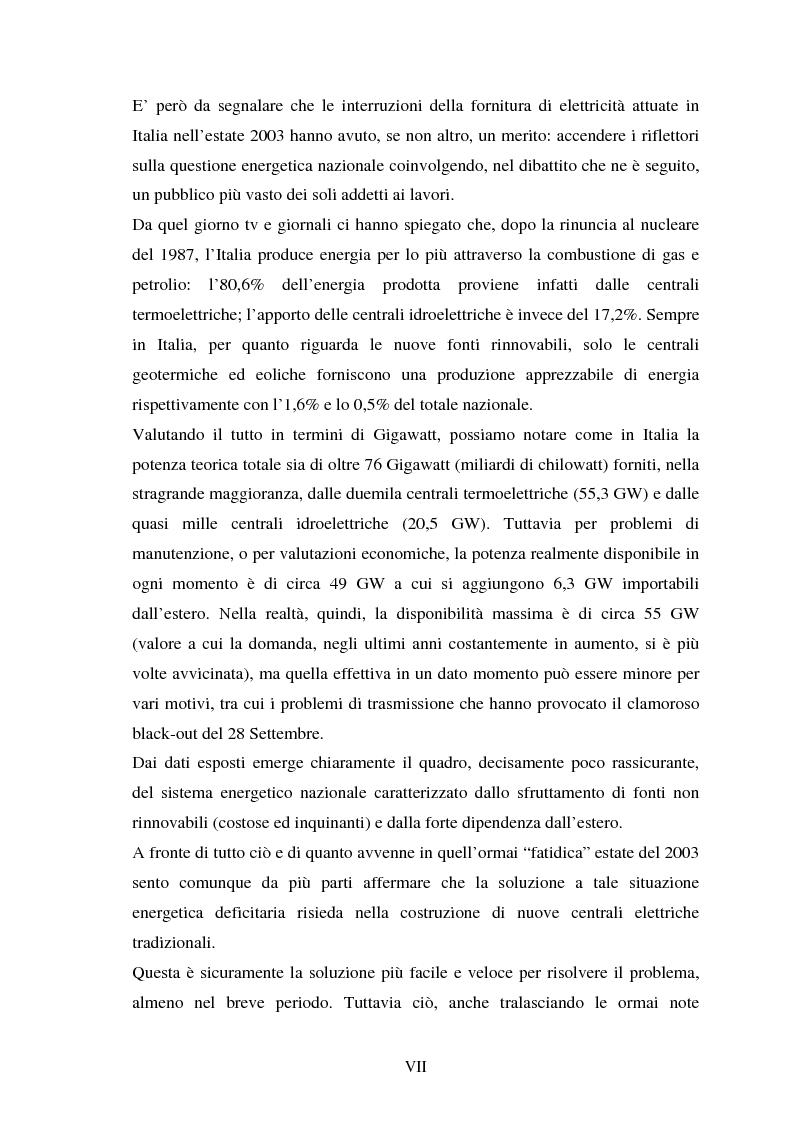 Anteprima della tesi: Le fonti energetiche rinnovabili. Valutazioni economiche, politiche ed ambientali., Pagina 2