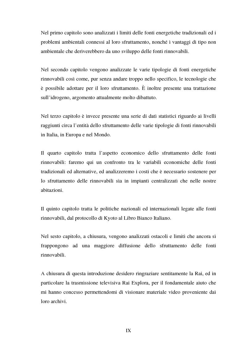 Anteprima della tesi: Le fonti energetiche rinnovabili. Valutazioni economiche, politiche ed ambientali., Pagina 4