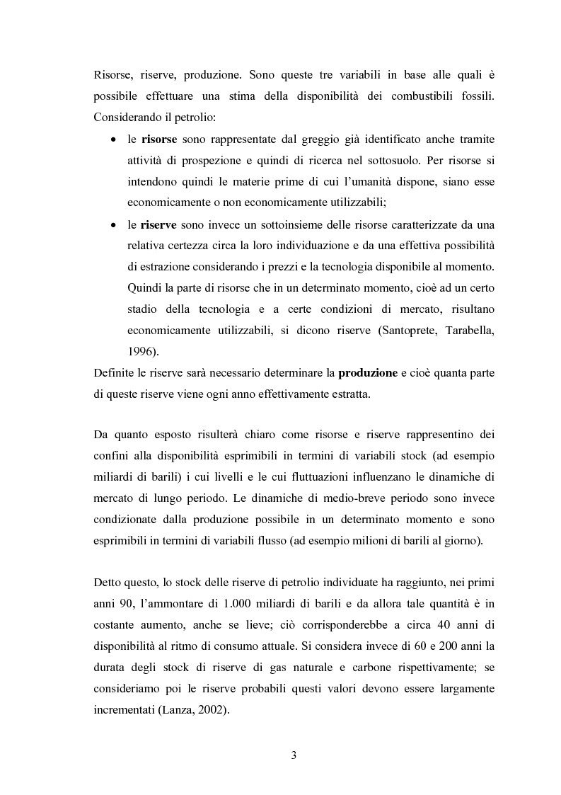 Anteprima della tesi: Le fonti energetiche rinnovabili. Valutazioni economiche, politiche ed ambientali., Pagina 8