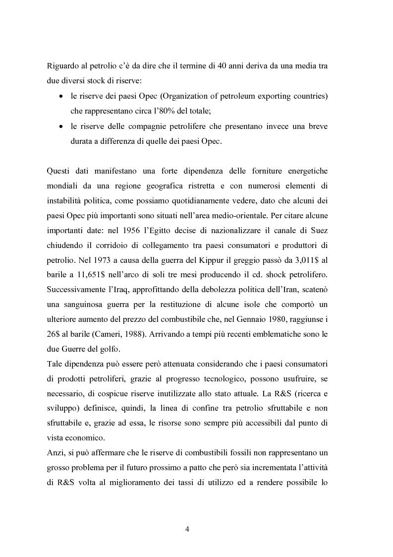 Anteprima della tesi: Le fonti energetiche rinnovabili. Valutazioni economiche, politiche ed ambientali., Pagina 9