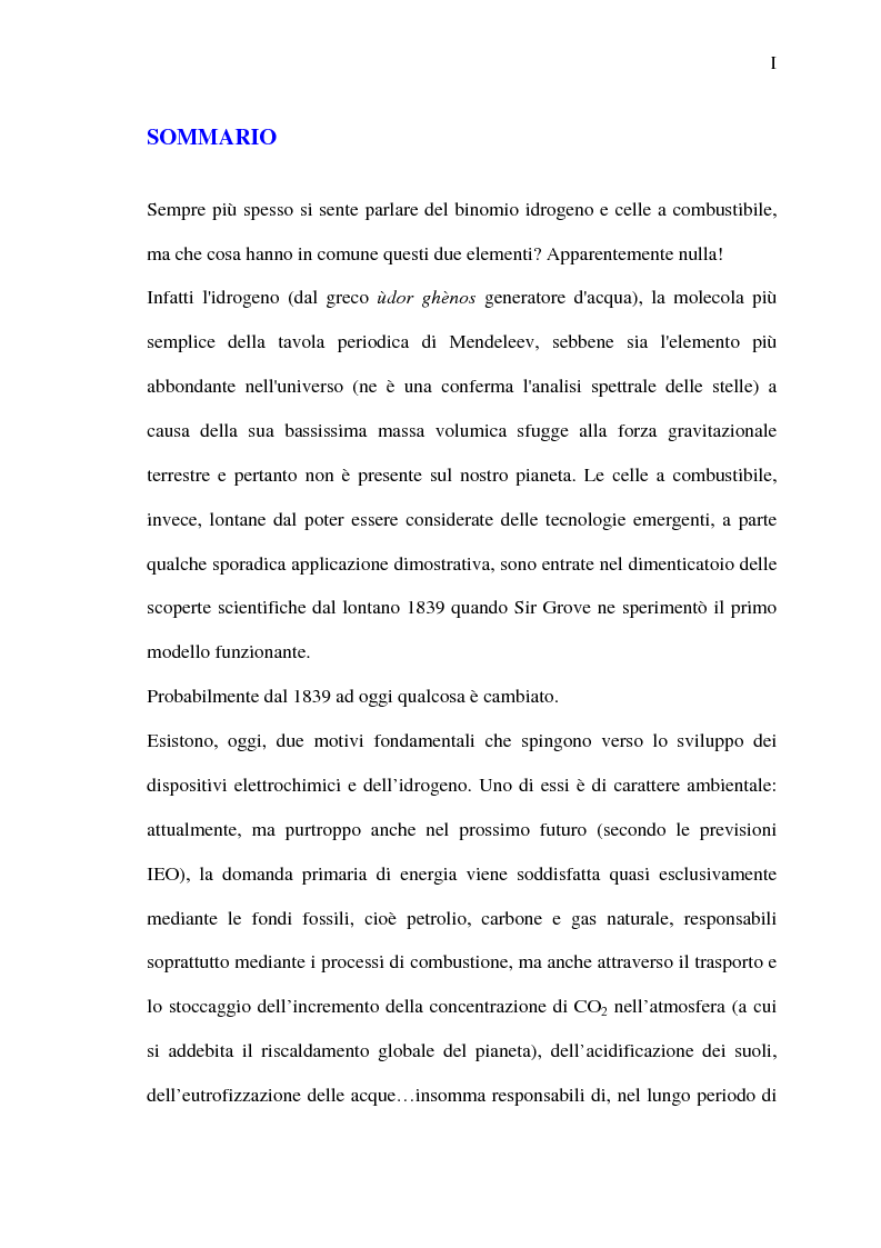 Anteprima della tesi: Analisi energetica del sistema di compressione dell'aria di una cella a combustibile PEM per la trazione terrestre, Pagina 1