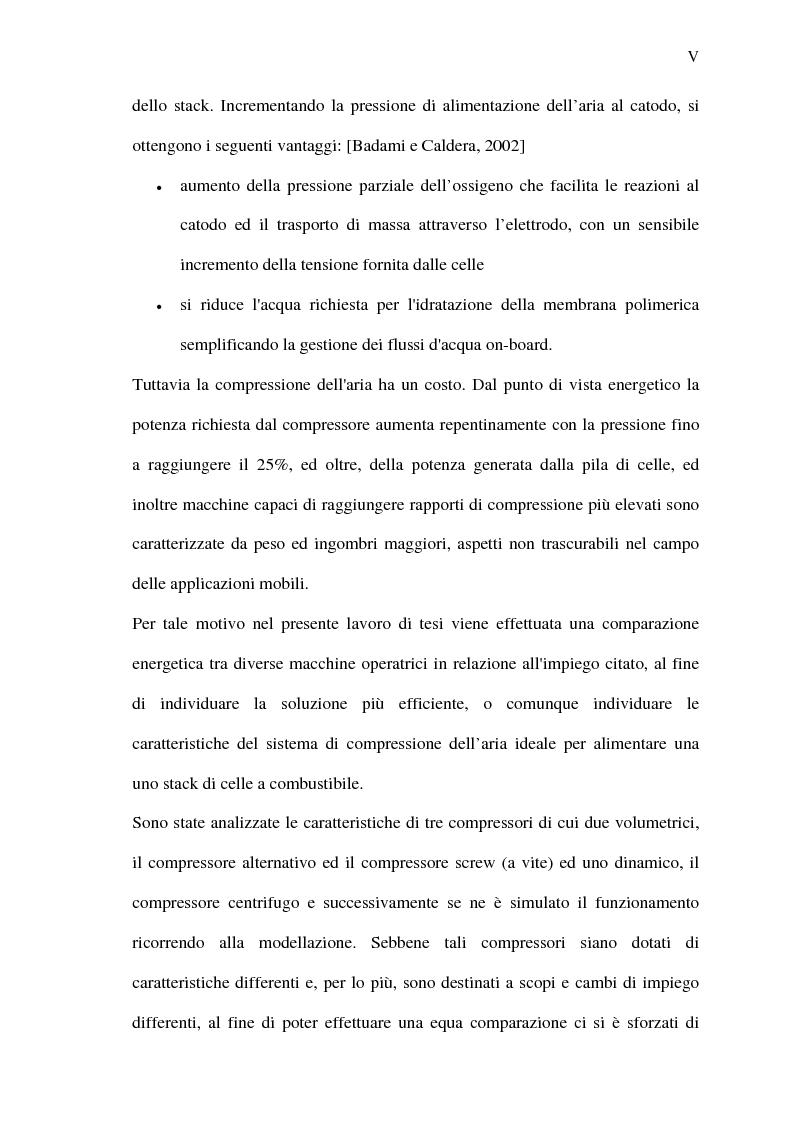 Anteprima della tesi: Analisi energetica del sistema di compressione dell'aria di una cella a combustibile PEM per la trazione terrestre, Pagina 5