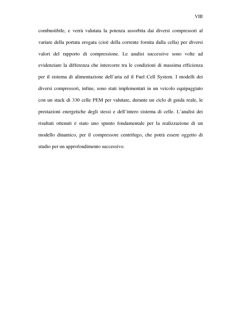 Anteprima della tesi: Analisi energetica del sistema di compressione dell'aria di una cella a combustibile PEM per la trazione terrestre, Pagina 8